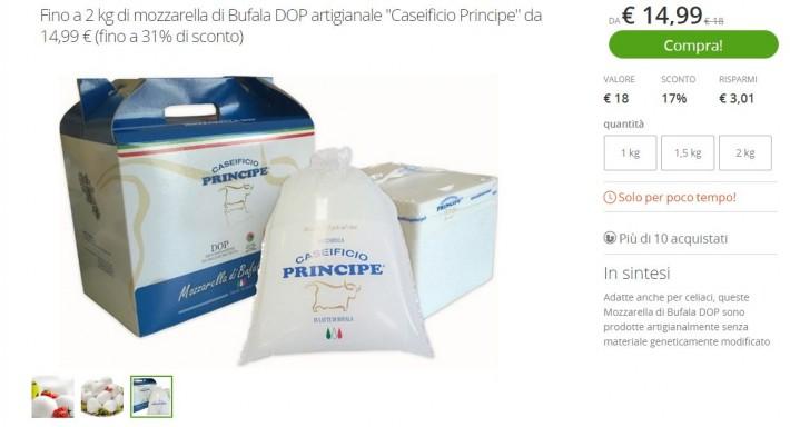 Disponibile su Groupon la nostra Mozzarella di Bufala Campana DOP